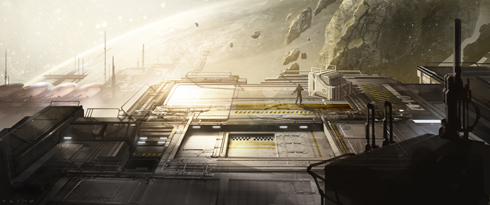 Halo 4 Warhouse Concept Art