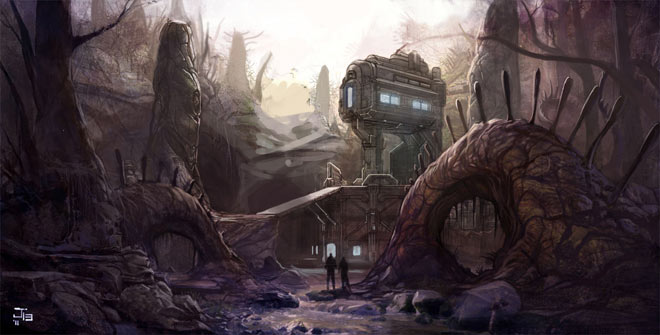 Halo 4 Abandon Concept Art