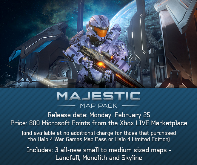Halo 4 Majestic Map Pack Banner