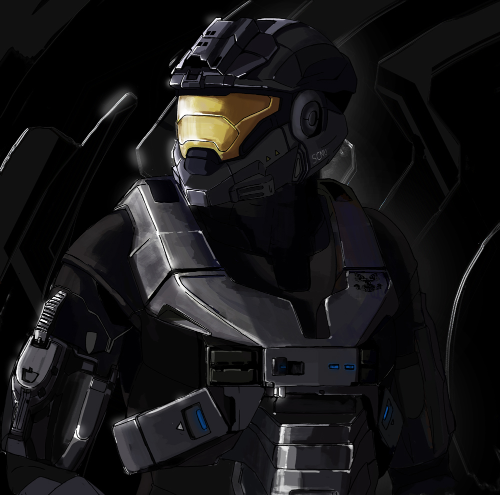 how to draw halo reach noble six