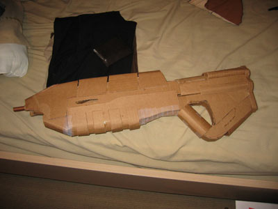 how to make a sniper rifle out of cardboard