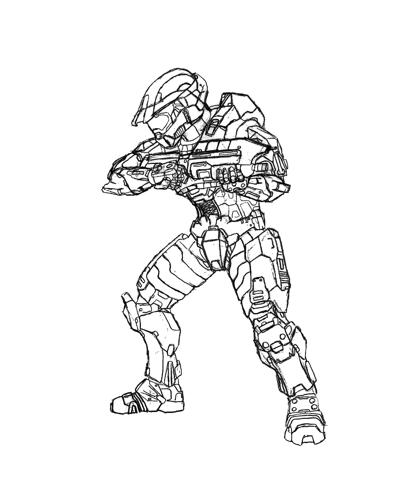 how to draw a spartan helmet from halo 3